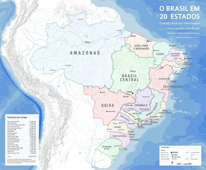 Brasil Novos Estados